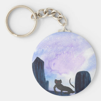 The Thing that Stalks The Graveyard Basic Round Button Keychain
