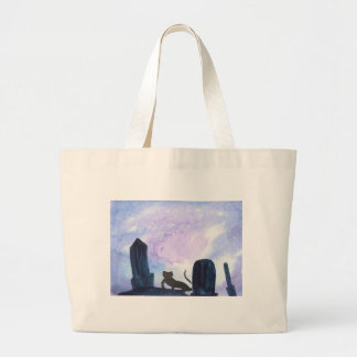 The Thing that Stalks The Graveyard Large Tote Bag