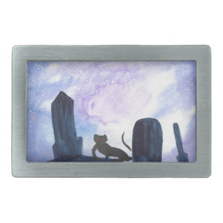 The Thing that Stalks The Graveyard Rectangular Belt Buckle
