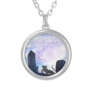 The Thing that Stalks The Graveyard Silver Plated Necklace