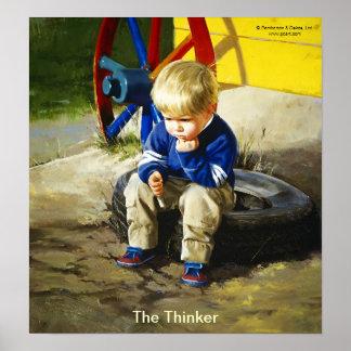 The Thinker (Borderless) Poster