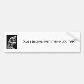 The Thinker by Rodin Bumper Sticker
