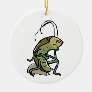 the thinker ceramic ornament