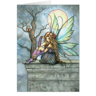The Thinker Fairy Card by Molly Harrison