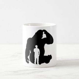 The Thinker -  Gorilla & Man Coffee Mug