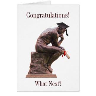 The Thinker Graduate Congratulations Card