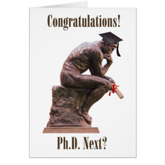 The Thinker Graduate/Congratulations Card