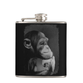 THE THINKER HIP FLASK