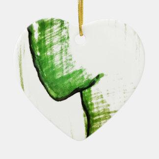 The Thinkers Solitude Ceramic Heart Ornament