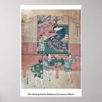 The third month by Ishikawa,Toyomasa, Ukiyoe Poster
