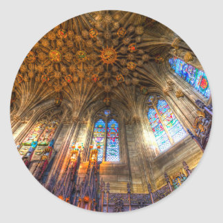 The Thistle Chapel St Giles Cathedral Edinburgh Classic Round Sticker