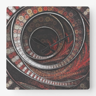The Thousand and One Rings of the Circus Square Wall Clock