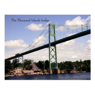 The thousand islands bridge postcard