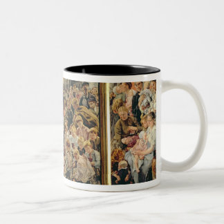 The Three Ages of a Working Man, 1895 Two-Tone Coffee Mug