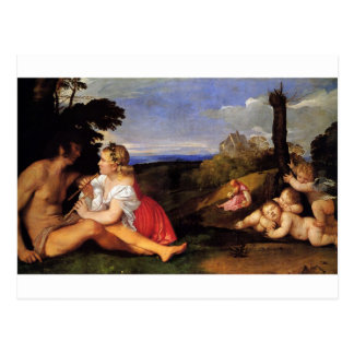 The Three Ages of Man by Titian Postcard
