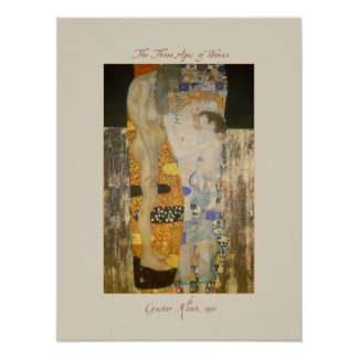 The Three Ages of Woman by Gustav Klimt Poster