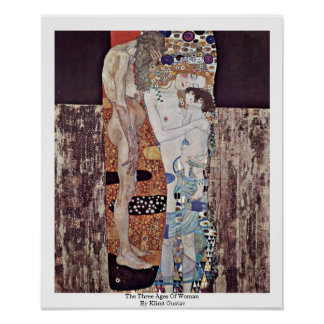 The Three Ages Of Woman By Klimt Gustav Poster