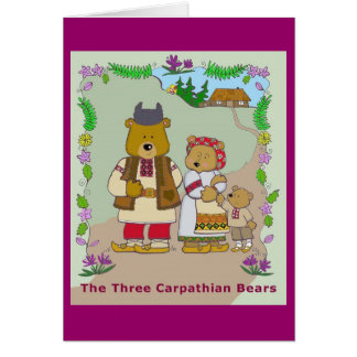 The Three Carpathian Bears Card