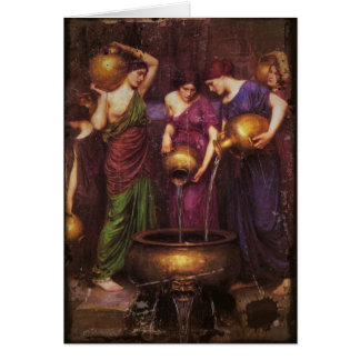 The Three Danaides Filling Cauldron Card