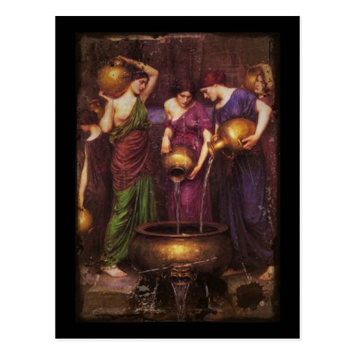 The Three Danaides Filling Cauldron Postcards