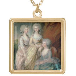 The three eldest daughters of George III: Princess Gold Plated Necklace