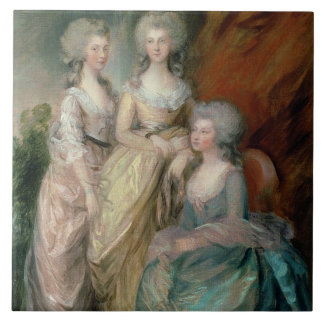 The three eldest daughters of George III: Princess Tiles