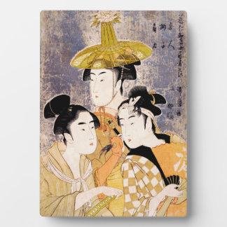 The Three Geisha Plaque