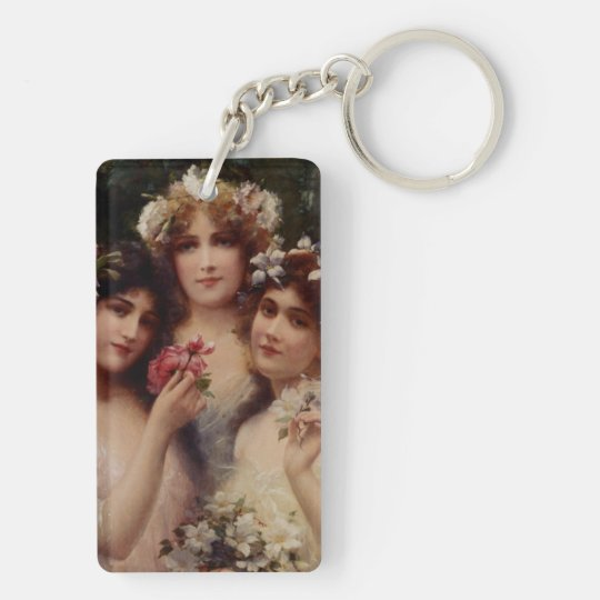 The Three Graces by Emile Vernon Double-Sided Rectangular Acrylic Keychain