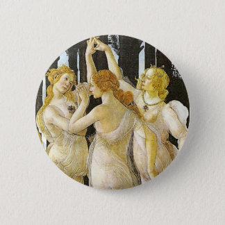 The Three Graces by Sandro Botticelli 2 Inch Round Button