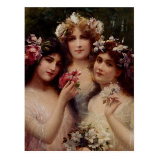 The Three Graces - Émile Vernon Postcard