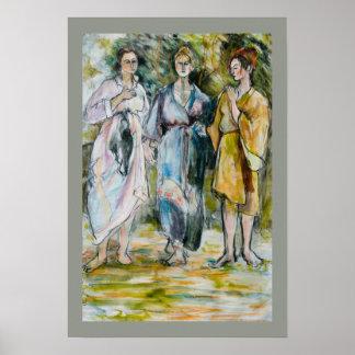 The Three Graces Fine Art Poster