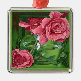 The Three Graces Silver-Colored Square Ornament