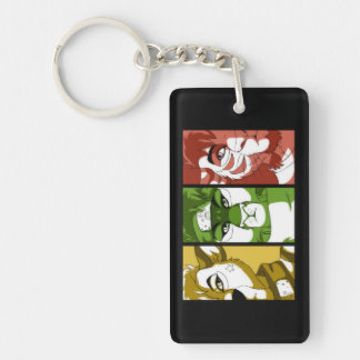 """""""The Three Guardians"""" Rectangle Keychain"""