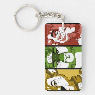 The Three Guardians Rectangle Keychain