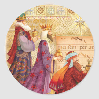 The Three kings Round Sticker