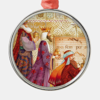 The Three kings Silver-Colored Round Ornament