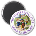 The Three Little Pigs Leave Their Home Refrigerator Magnet
