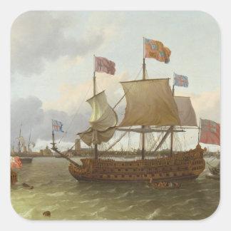 The Three-Master 'Britannia' in Rotterdam, 1698 Stickers