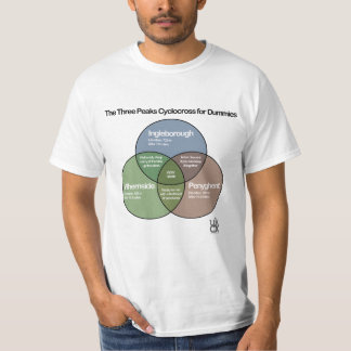 The Three Peaks Cyclocross venn diagram T-Shirt