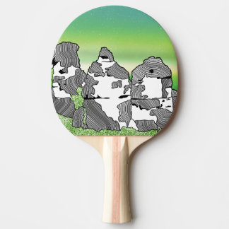 The three sisters Iconic Australian Place Ping Pong Paddle