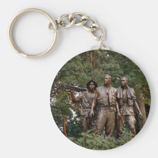 The Three Soldiers Basic Round Button Keychain