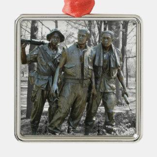The Three Soldiers Silver-Colored Square Ornament