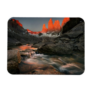 The Three Towers Rectangular Photo Magnet