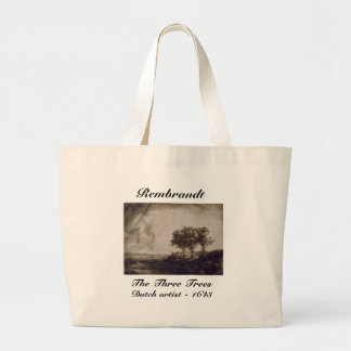 The Three Trees Large Tote Bag