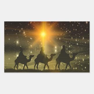 The Three Wise Men Religious Christmas Sticker
