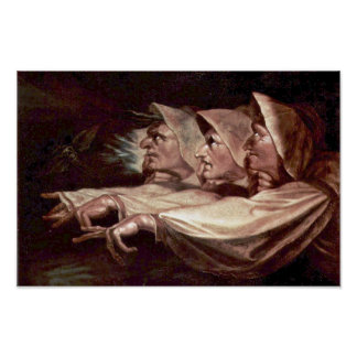 The Three Witches English - The Weird Sisters Or T Poster