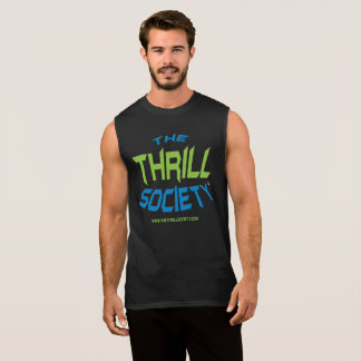 The Thrill Society Logo Squeezed Design Sleeveless Shirt