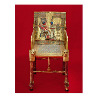 The throne, from the Tomb of Tutankhamun Postcard
