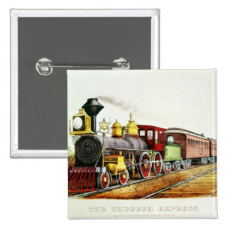The Through Express 2 Inch Square Button