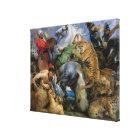 The Tiger Hunt, c.1616 Canvas Print